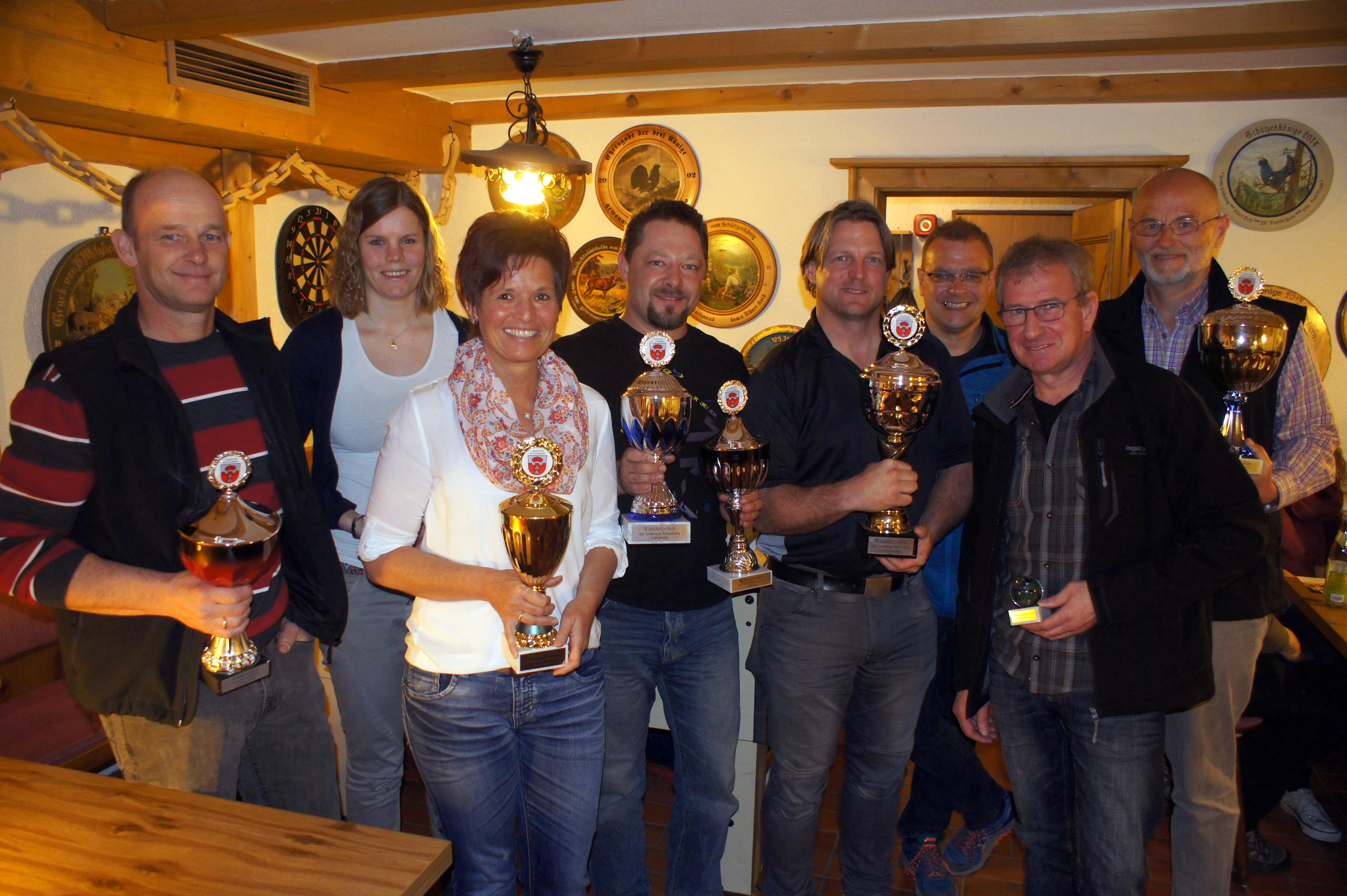 Pokalgewinner des Gemeindepokalschießens 2017